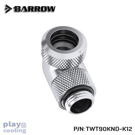 Barrow Rotary 90-Degree Multi-Link Adapter 12mm silver