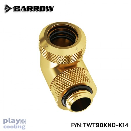 Barrow Rotary 90-Degree Multi-Link Adapter 14mm gold