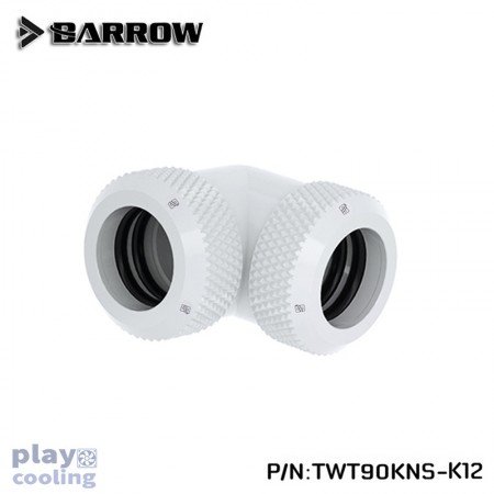 Barrow Double hard tube 90° Multi-Link Adapter 12mm White