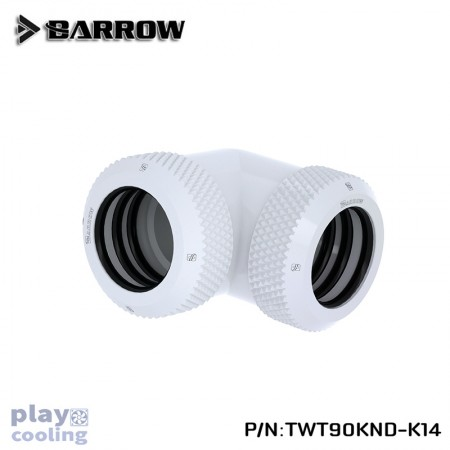 Barrow Double hard tube 90° Multi-Link Adapter 14mm White